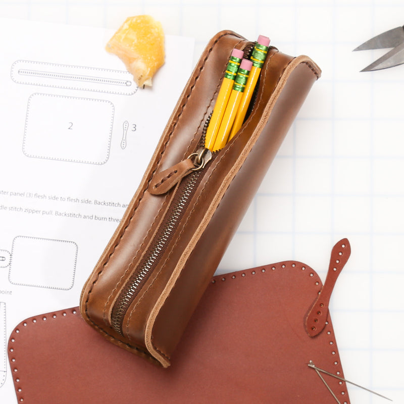 DIY Pencil Case Leather Kit