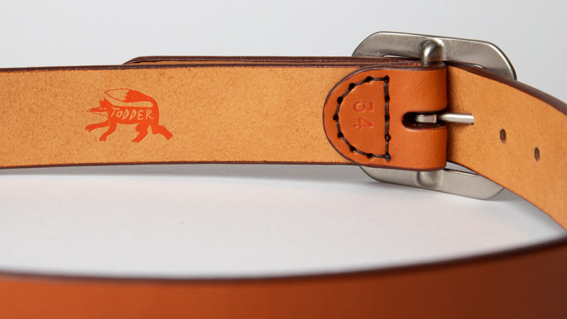 Wide Belt - Tan - 1.5""