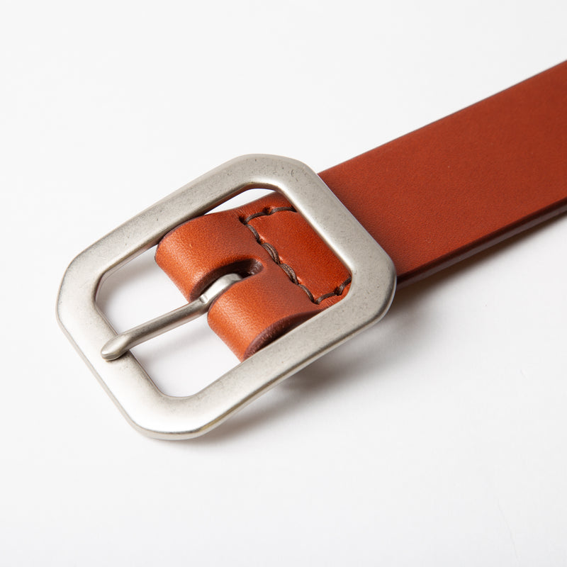 Wide Belt - Chestnut - 1.5""