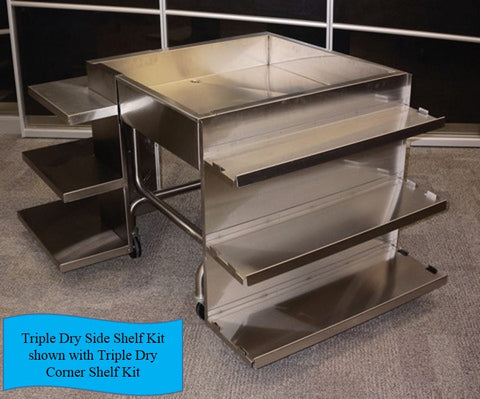 Triple Dry Side Shelf Kit - the transforMerchandiser - 1