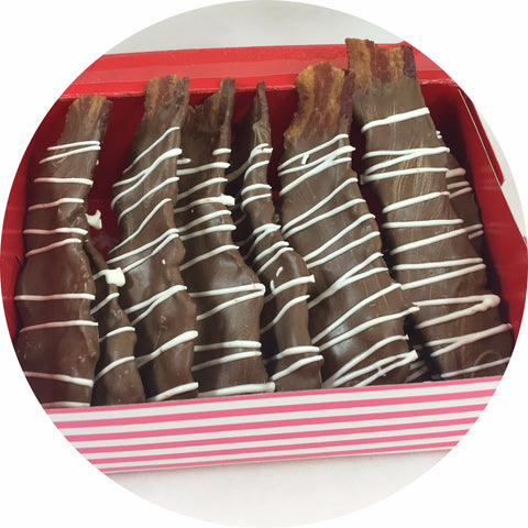 6 Piece Valentine's Chocolate Covered Bacon Box