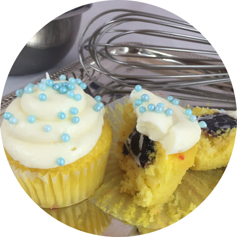 Lemon Blueberry Cupcake- 6 count