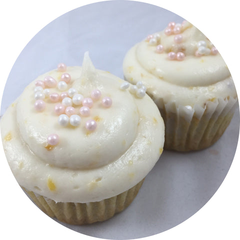 Peach Bourbon Cupcake- 6 count