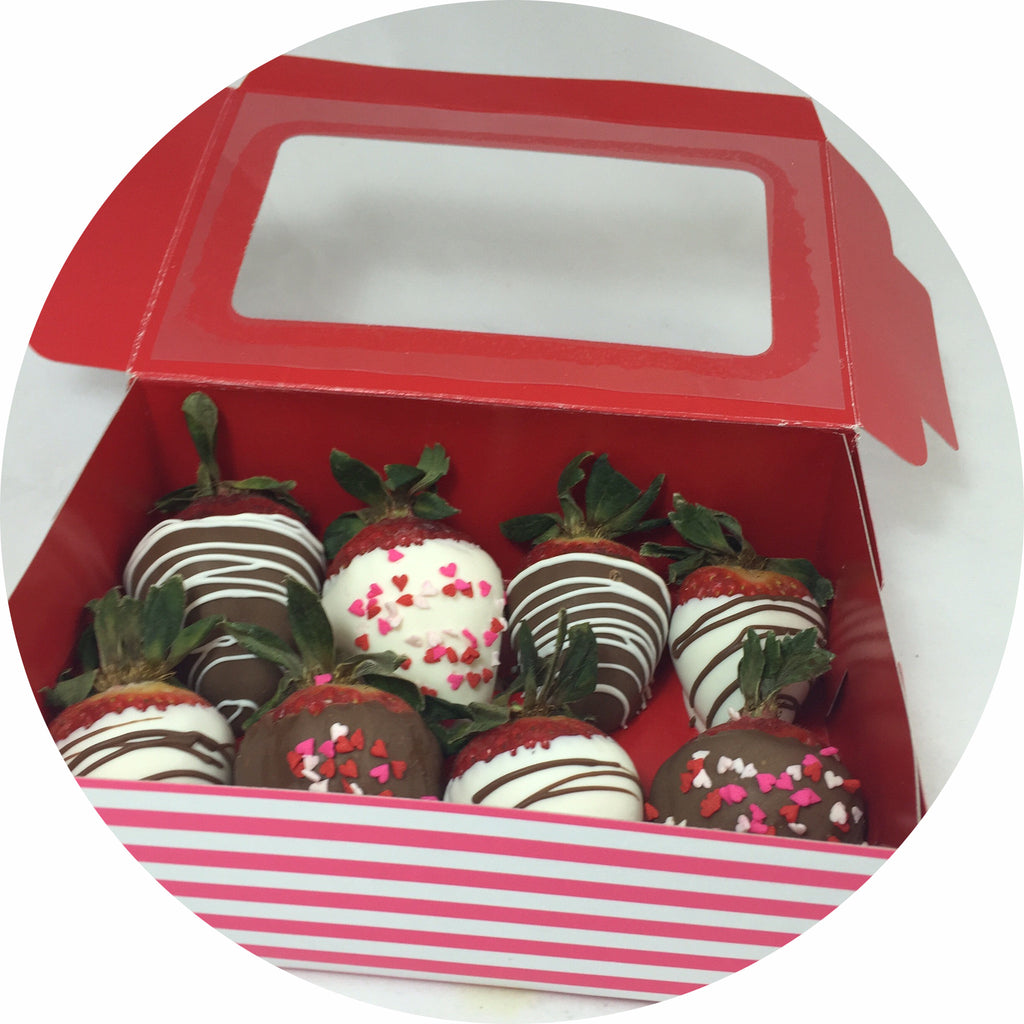 Valentine's Chocolate Covered Strawberries- 8 count