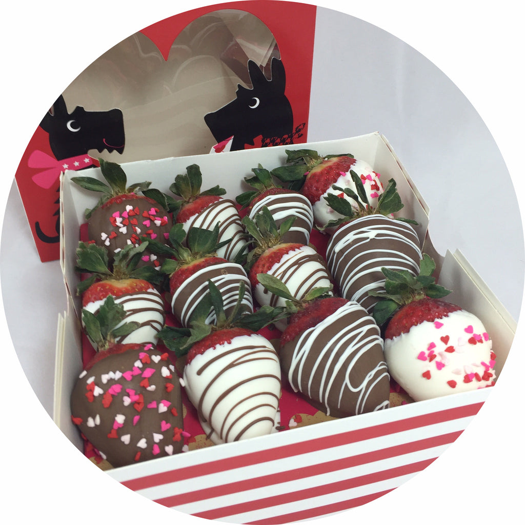 valentines chocolate covered strawberry box 12 count