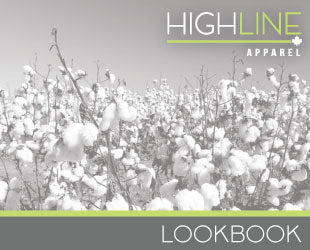 The cover page of the HighLine apparel lookbook