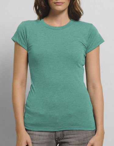HL2510 Women's Blended Crew Neck T-Shirt