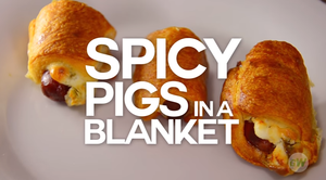 Spicy Pigs in a Blanket in an Air Fryer