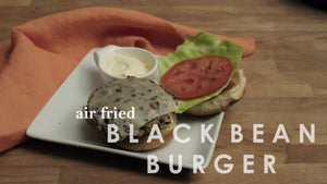 Air Fried Black Bean Burger