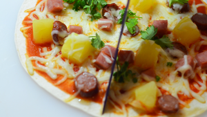 Air Fryer Hawaiian Tortilla Pizza