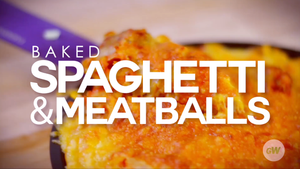 Air Fryer Spaghetti and Meatballs