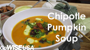 Chipotle Pumpkin Soup with Avocado Crema