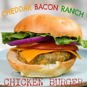 Cheddar Bacon Ranch Chicken Burger