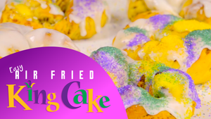 Mardi Gras Air Fryer King Cake Recipe
