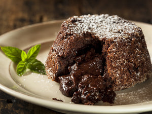 Molten Chocolate Lava Cake in an Air Fryer