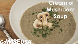 Cream of Mushroom Soup Made in the Heated Blender