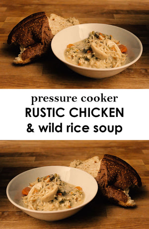 Pressure Cooked Rustic Chicken and Wild Rice