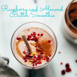 Raspberry and Almond Butter Smoothie