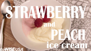 How to Make Strawberry and Peach Ice Cream in a Heating Blender