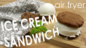 Air Fryer Ice Cream Cookie Sandwich