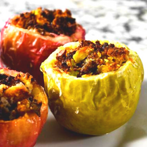 Air Fryer Savory Stuffed Apples