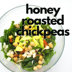 Air Fryer Honey Roasted Chickpeas