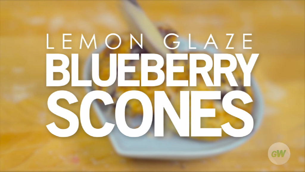 Lemon Glaze Blueberry Scones