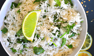 Cilantro Lime Rice in a Pressure Cooker