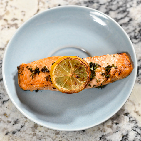 air-fryer-dijon-garlic-salmon