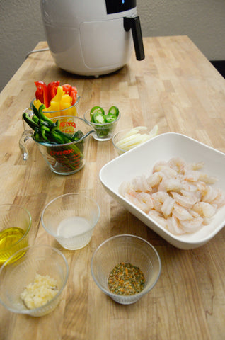 Spicy Shrimp Fajita Ingredients