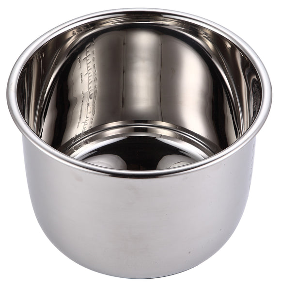 Stainless Steel Replacement Cooking Pot for GoWISE USA Pressure Cookers