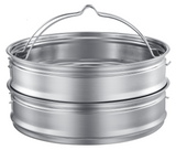 stainless steel 12-in-1 pressure cooker steam baskets