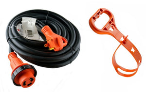 GoWISE Power 50-Feet 30 Amp RV Extension cord w/ Molded Connector, Handle and Cord Carrier - Twist Lock - GoWISE USA