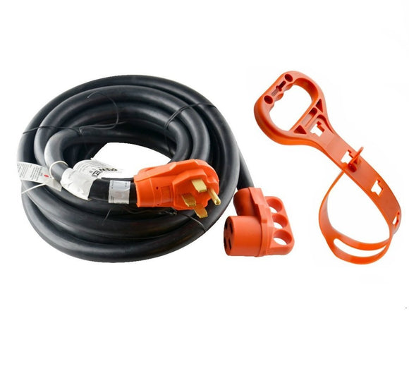 GoWISE Power 30-Feet 50 Amp RV Extension cord w/ Molded Connector and Handles- 50 Amp Male to 50 Amp Female RVC3008 - GoWISE USA
