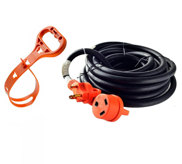 GoWISE Power 25-Feet RV Extension cord w/ Handles- 30 Amp Male to 30 Amp Female - GoWISE USA