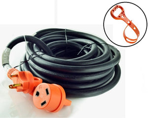 GoWISE Power 50-Feet 30-Amp RV Extension cord w/ Handles- 30 Amp Male to 30 Amp Female - GoWISE USA