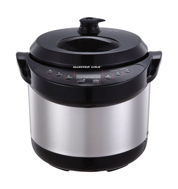 3-Quart 6-in-1 Electric Pressure Cooker/Slow Cooker, GW22614 - GoWISE USA