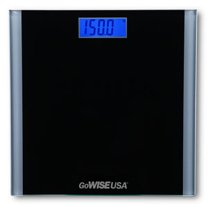 Digital Step-on Scale, Black, GW22033 - GoWISE USA