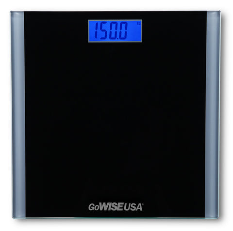 Electronic Personal Digital Scale w/ Step-On Technology - Black GW22033