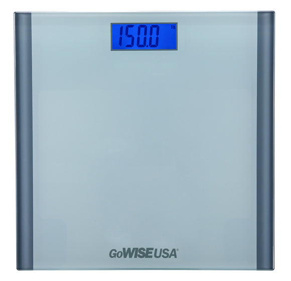 GoWISE USA Digital Step-On Scale, Silver