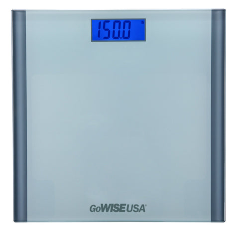 Electronic Personal Digital Scale w/ Step-On Technology - Silver GW22034