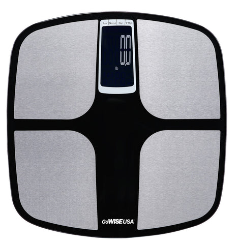 GoWISE USA Body Fat Scale - FDA Approved - Black/Silver GW22037