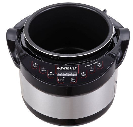 Gowise usa 6 qt electric pressure cooker with 12 presets for Gowise usa