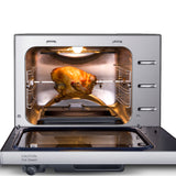 27-Quart Electric Programmable Pressure Oven w/Rotisserie - GoWISE USA