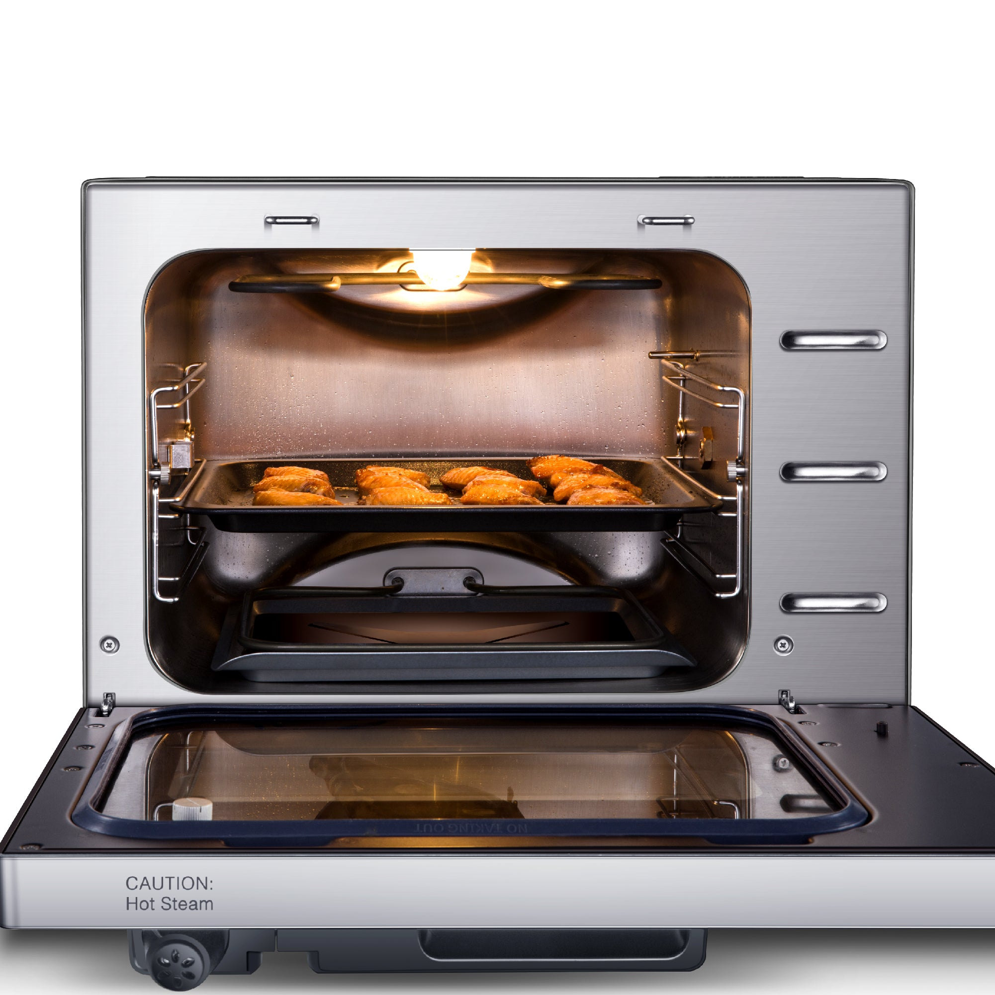 27 Quart Electric Programmable Pressure Oven W Rotisserie Gw22710 Gowise Usa