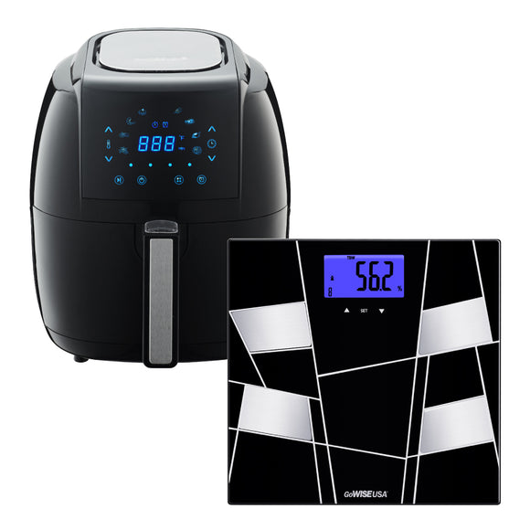 3.7 Quart 8-in-1 Digital Touchscreen Air Fryer + Body Fat Scale - GoWISE USA