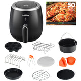 5.3-Quarts Air Fryer XL with 10 Piece Air Fryer Accessory Set - GoWISE USA