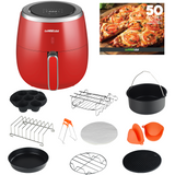 5.3 QT Air Fryer XL with 10 Accessories (3 Colors), GWAC981/982/983 - GoWISE USA