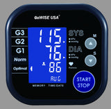 GoWISE USA Digital Upper Arm Blood Pressure Monitor with Hypertension Risk Indicator & Irregular Heartbeat Detection, Large LCD Display