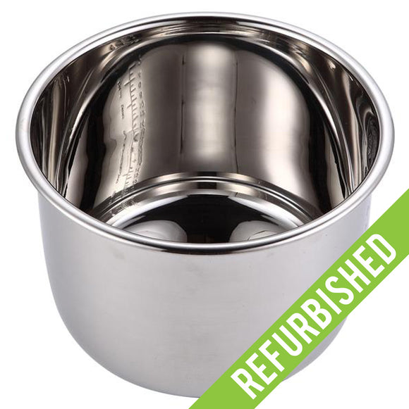 Replacement Stainless Steel Cooking Pot for GoWISE USA Pressure Cookers (Refurbished)
